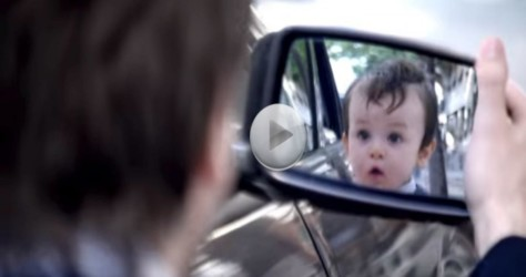 Man Looks Into The Mirror And Sees A Baby.  He Can't Believe What He Can See!